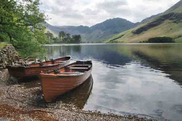 Boats on Lake Buttermere